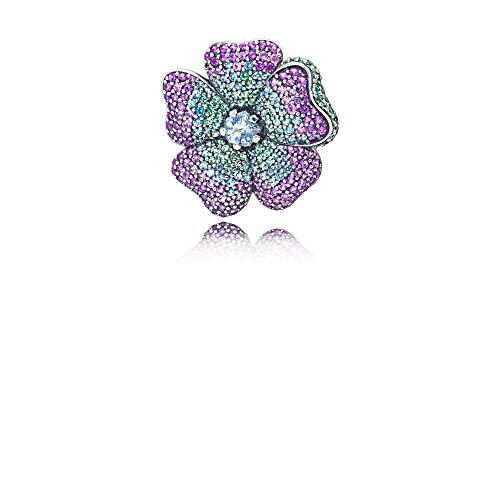 Pandora -Brosche 925 Sterlingsilber Kristall 397081NRPMX