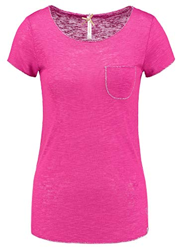 Key Largo Damen Shirt Dublin New Round,Unifarben (S, Pink)