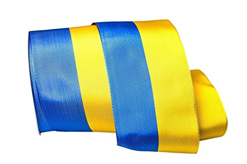 Christa Bänder Uni Nationalband Schweden blau/gelb 130mm ohne Draht