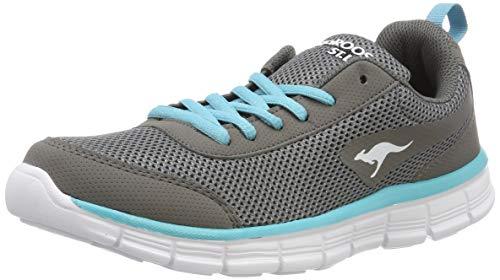 KangaROOS Unisex-Erwachsene K-Run REF Light Sneaker, Grau (Vapor Grey/Turquoise 2035), 40 EU