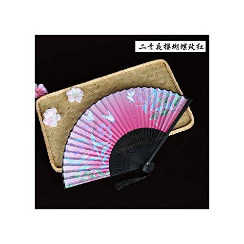 JUWOJIA Satin Seide 6 Zoll Frauen Täglich Folding Fan Klassischer Tanz Performance Fotografie Kostüm Requisiten Chinesischen Stil Drucken Folding Fan (20 Cm-21 cm) I