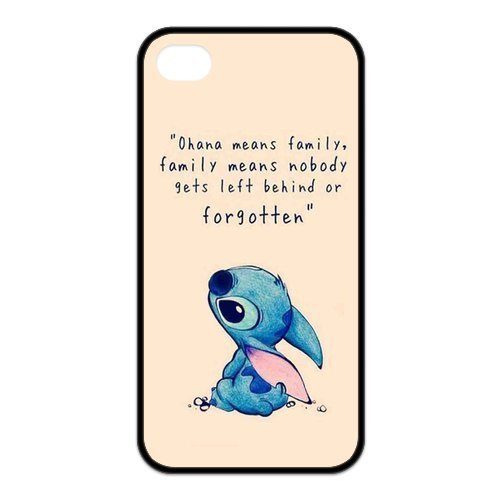Lilo & Stitch Custom TPU Case Cover Protective Skin For Iphone 4 4s iphone4s-NY1083