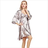 NEIYI La Nueva simulación de la Bata de Seda señoras explosión de Verano Pijamas Traje de