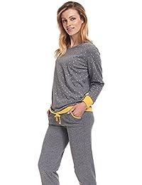dn nightwear Damen Schlafanzug / Pyjama LILLY / langärmlig