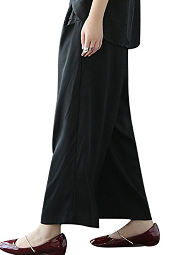 Youlee Donne Estate Autunno Pantaloni larghi del piedino elastico della vita Stile 2
