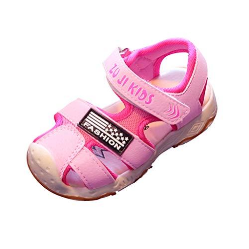 Womens Geschlossene Zehe Kurz (AIni Baby Schuhe,Sale 2019 Neuer Beiläufiges Mode Kleinkind Kleinkind Kinder Baby Mädchen Jungen Geschlossene Zehe Strand Schuhe Sandalen Turnschuhe Lauflernschuhe(24,Rosa))