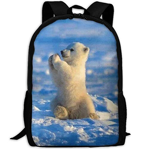 HOJJP Schultasche Baby Polar Bear Waterproof School Bag Durable Travel Camping Backpack for Boys and Girls -