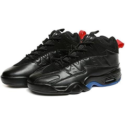 WZX Nuova pallacanestro respirabile scarpe uomo ammortizzata sneakers uomo scarpe bianco e nero gli studenti in scarpe da corsa, scarpe outdoor , black , 41