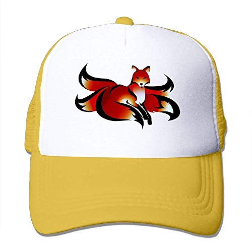 3380edfba56 dfegyfr Red Nine Tail Fox Adjustable Sports Mesh Baseball Caps Trucker cap  Sun Hats Design17