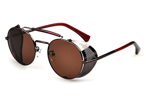Botetrade Vintage Round Glasses Sunglasses Steampunk Cyber Goggles C5