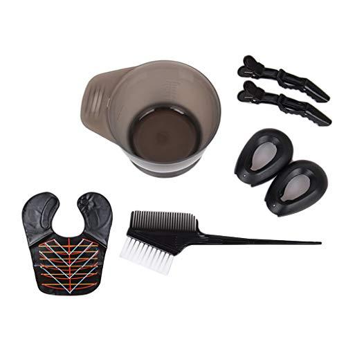 Techting Frauen Männer Haarfärbung Tools Kit Haartönungs Rührschüssel Dye-Bürsten-Ohr-Schutzsatz Schönheitssalon Versorgungspaket 4