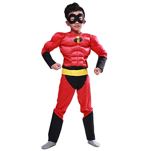Hallowmax Junge Supermann Cosplay Kostüm Muskel Kleidung Halloween Disney Cartoon Film