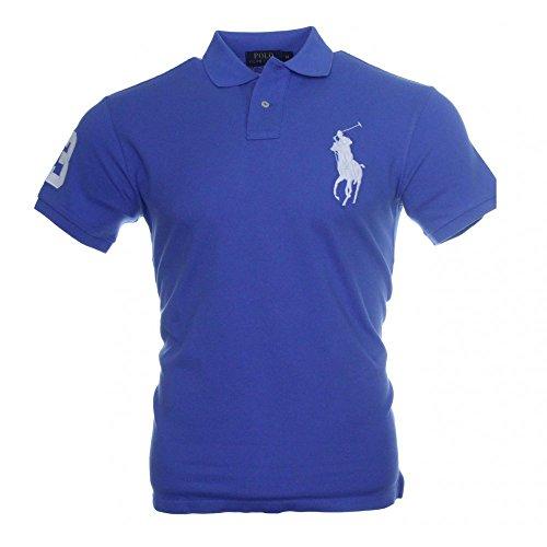 Ralph Lauren Herren Polo - Blau - großer weißer Reiter Blau