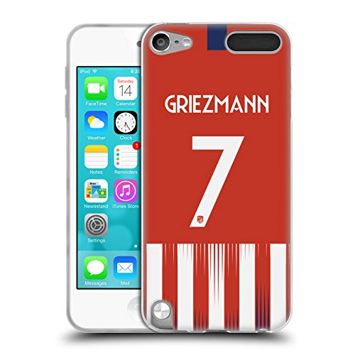 Head Case Designs Offizielle Atletico Madrid Antoine Griezmann 2018/19 Spieler Home Kit Gruppe 1 Soft Gel Huelle kompatibel mit Apple iPod Touch 5G 5th Gen