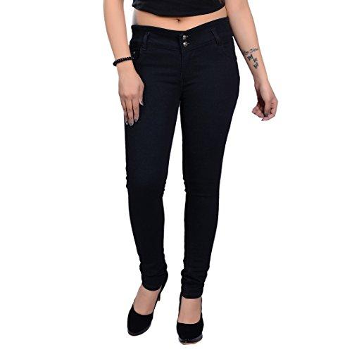 NEON 9 Slim Girls Solid Denim Jeans Sizes (7-8 Years, 8-9 Years, 9-10 Years, 10-11 Years, 11-12 Years, 12-13 Years, 13-14 Years, 14-15 Years, 15-16 Years) Black