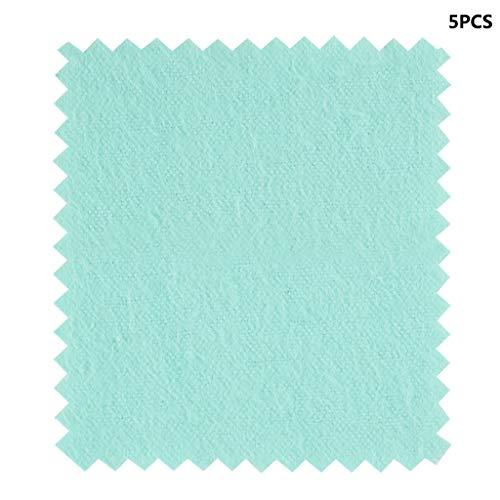 Vektenxi Premium Qualität Reinigungstuch - 5 x Tuch Reinigungstuch für Silber Gold Ein Baumwollpolierer Grün 80 * 80mm (Gefrierschrank Tuch)