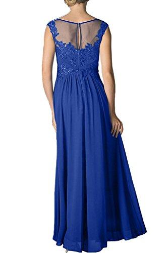 ivyd ressing Femme Exquisite traîne Satin Pierres Lave-vaisselle robe longue Prom robe robe du soir Bleu - Bleu royal