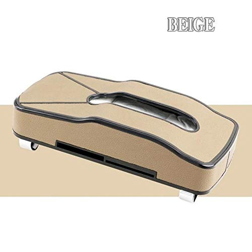 Braun Multi-funktions-stoff (WANG General Portable Auto Tissue Box Leder Vorhaut Tray Multi-Funktions-Karteneinleger Home Dual-Use Innovative, Weiß)
