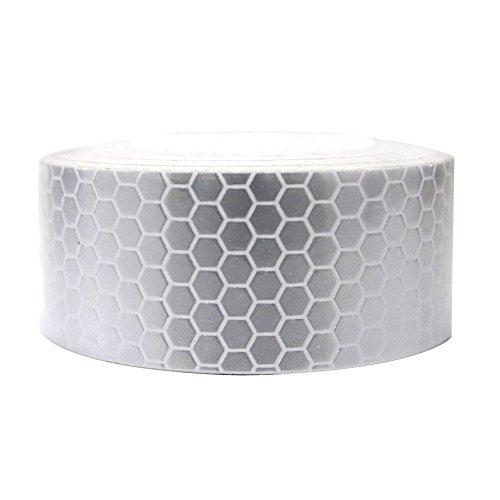 Maiqiken 1 Rolle Reflektor Streifen Weiße Selbstklebende Für Auto LKW Anhänger Sicherheit Warnung Reflektorband Tape Aufkleber 5CM x 3M (Reflektierende Lkw-tape)