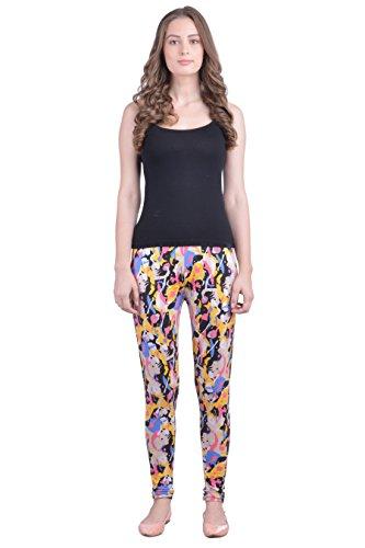 Dollar Missy Women's Cotton Multicolor Abstarct Printed Slim Fit Ankle Length Leggings