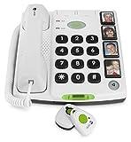 Doro Secure 347 Telefono Fisso per Anziani con Tasti Grandi con Foto e Telecomandi con Pulsante d'Emergenza Wireless
