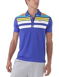 Puma Herren Polo T-Shirt Engineered Stripe technische Short Sleeve
