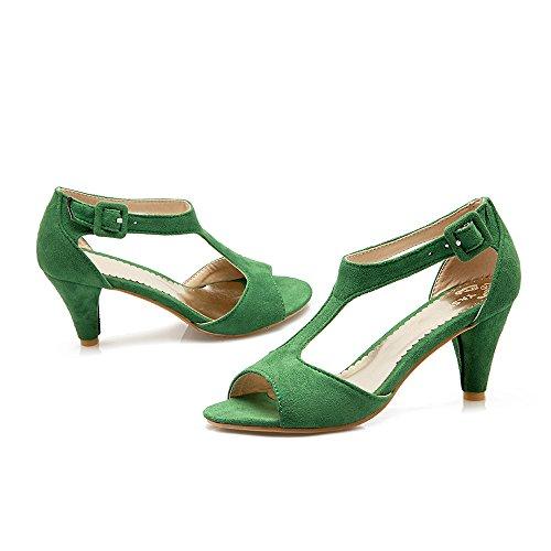 JOJONUNU Femmes Elegant Peep Toe Sandales SU Green