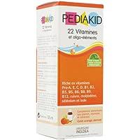 Pediakid - Sirop 22 vitamines/oligo à l'abricot- orange - 125 ml flacon - Croissance équilibrée