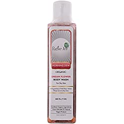 Rustic Art Organic Dreamflower Body Wash - Morning Dew, 200ml Bottle