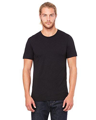Bella+Canvas: Men`s Triblend V-Neck T-Shirt 3415 SLD BLK TRIBLEND