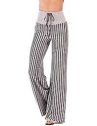 Pantalon Femme Yoga Sport Taille Elastique en Coton Confortable Danse  Fitness Yoga Jogging 591f1707ec0