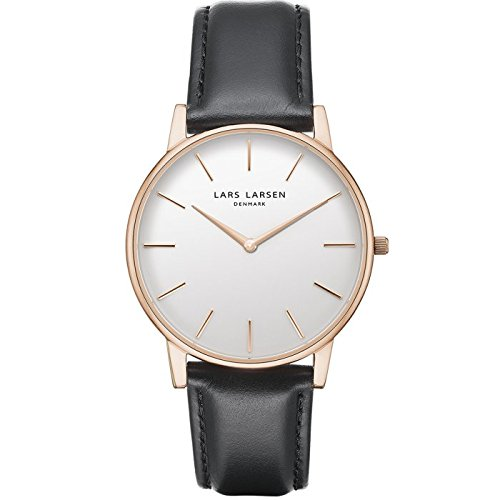 'Lars Larsen Oliver Rose Gold con quadrante bianco 39 mm Watch