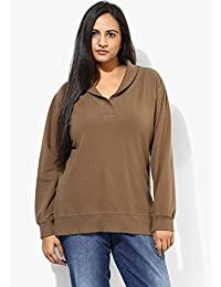 GRAIN Coffee Bean Color Regular fit Cotton Jackets for Women