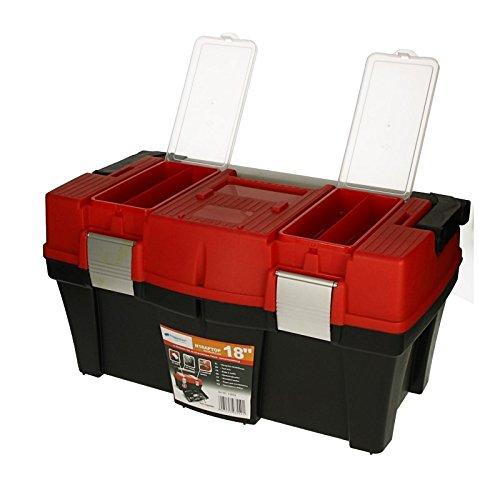 """Werkzeugkoffer Aptop 18"""" 46x26x24,5cm Werkzeugkasten Sortimentskasten Werkzeugkiste Angelkoffer Kunststoff - 4"""