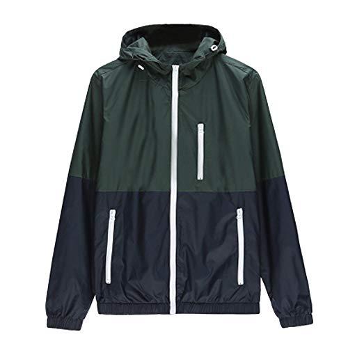 MERICAL Mantel Herren Freizeitjacke Outdoor Sportswear Windbreaker Leichte Bomberjacke(Small,grün)