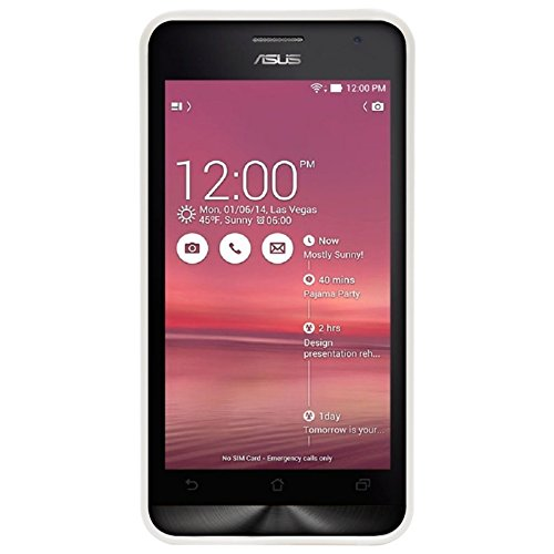 DMG Soft Rubberized Thin TPU Skin Case for Asus Zenfone 5 (White)  available at amazon for Rs.99
