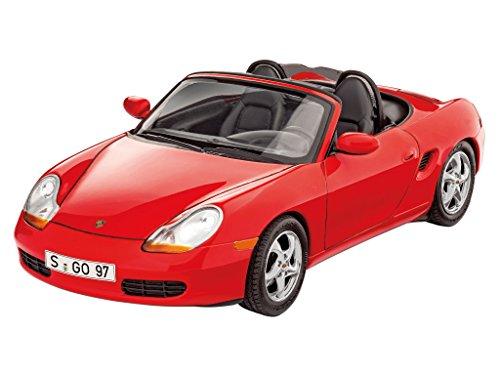 Revell Modellbausatz Auto 1:24 - Porsche Boxster im Maßstab 1:24, Level 3, originalgetreue Nachbildung mit vielen Details, , Model Set mit Basiszubehör, 67690