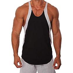 KUKICAT Débardeur Homme Musculation Sport Fitness Homme Débardeur Dim T-Shirt Gilet sans Manche Maillot Tank Top Haute Homme Sexy Été Chemise Slim Fit Casual Strech Tops Muscle Blouse la Mode Vest