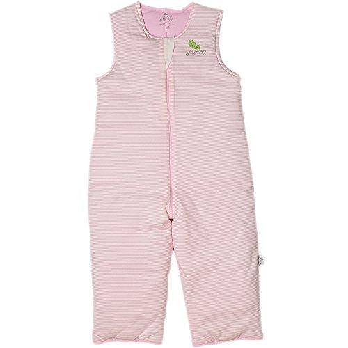 Minou Walker Schlafsack mit Beinen Gr.110 Pink Streifen 141311