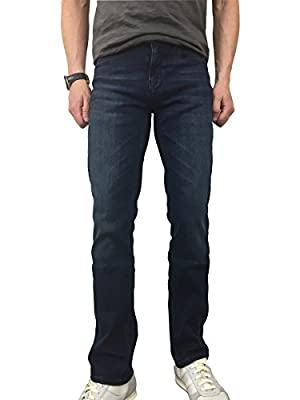 Hugo Boss Mens Orange 63 Slim Fit Jeans in Denim Dark Used Blue