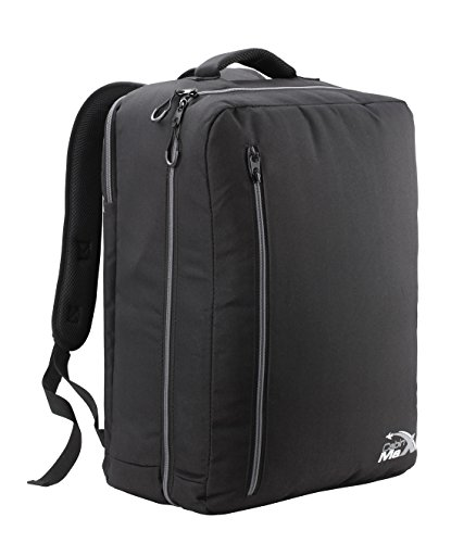 cabin-max-durham-hand-luggage-backpack-with-laptop-ipad-notebook-compartment-black-grey