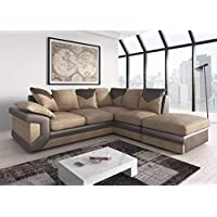FURNITURE HUT UK DINO CORNER SOFA BROWN/MOCHA (Right)