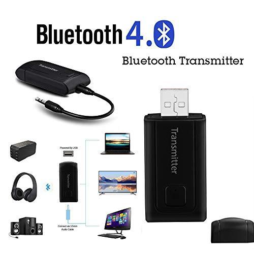 Colorful Bluetooth Transmitter Sender, Bluetooth Adapter für Home Stereo Wireless Music Adapter für TV Kopfhörer iPod MP3 MP4 PC