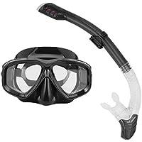 Máscaras de Buceo Profesionales Goggle Full Dry Silicone Tube Set de Hombres Mujeres Buceo Natación Equipo de Deportes acuáticos