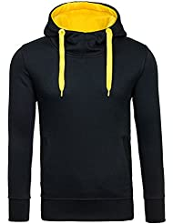 BOLF Herren Sweatshirt Longsleeve Pullover Sweatjacke modern mit Kapuze J. STYLE 2072