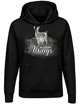 Harry Potter Always Jersey con Capucha Mujer Negro