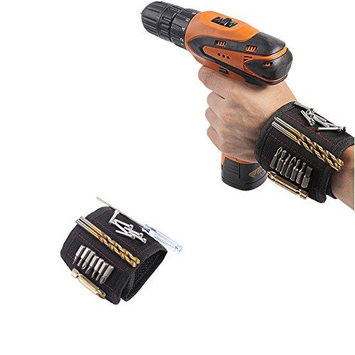 Magnetische Armbänder,Magnetarmband mit 5 starken Magneten für Holding Schrauben, Nägel, Schrauben, Dübel, Bohrungen Werkzeuge Gadgets für Männer Best Werkzeug Geschenk für DIY Handwerker(1 St
