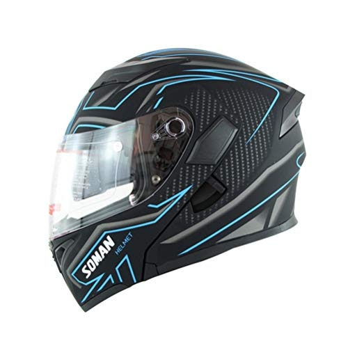 Double Lens Flip Up Motocross Helme Stoßfest Anti Collision Modular Mountain Road Motorradhelm Winddicht Anti Fog Off Road Integralhelm -