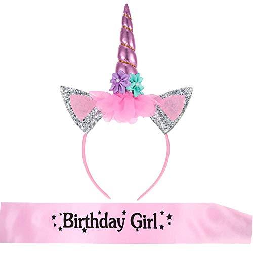 Hestya Diadema Unicornio Banda Birthday Girl Materiales