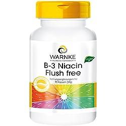 Warnke Gesundheitsprodukte B3 Niacin ohne Flush, 400mg Niacin, ohne Flush, 90 vegane Kapseln, 1er Pack (1 x 59 g)